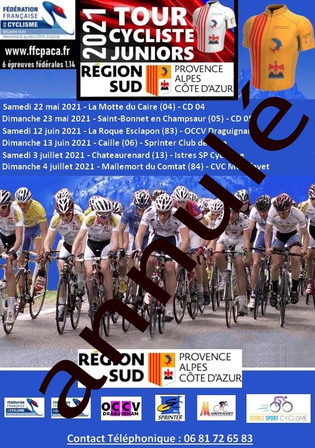 Annulation du Tour Cycliste Junior