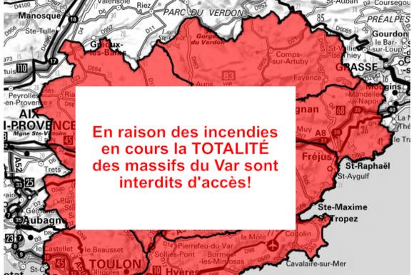 Accès interdit à tous les massifs forestiers du Var